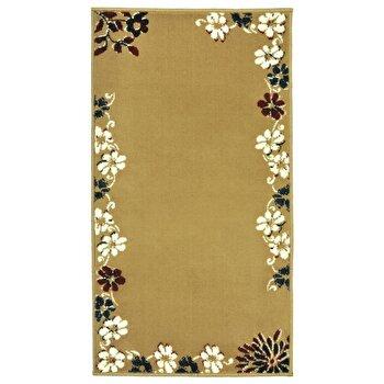 Covor Decorino Floral C05-020156, Bej/Maro, 60×110 cm de la Decorino