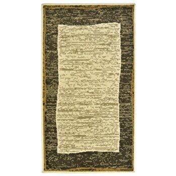 Covor Decorino Modern & Geometric C04-020166, Bej/Maro, 80×150 cm de la Decorino