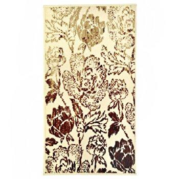 Covor Decorino Floral C05-020168, Crem/Rosu, 60x110 cm