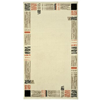 Covor Decorino Oriental & Clasic C04-020171, Alb/Bej/Maro, 80×150 cm de la Decorino