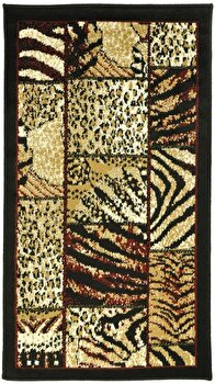 Covor Decorino Animal Print C97-030510, Bej/Maro, 160x235 cm