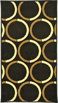 Covor Decorino Modern & Geometric C23-030221, Maro/Bej, 100×150 cm de la Decorino