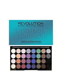 Paleta farduri de pleoape Mermaids Forever, 32 culori de la Makeup Revolution London