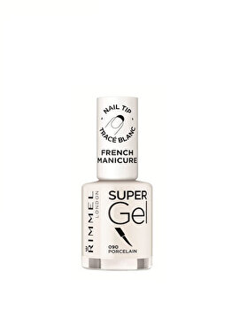 Lac de unghii Rimmel London Super Gel French, 090 Porcelain, 12 ml de la Rimmel