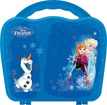 Set 3 piese Disney, Mic Dejun Frozen, 89227, Albastru de la Disney