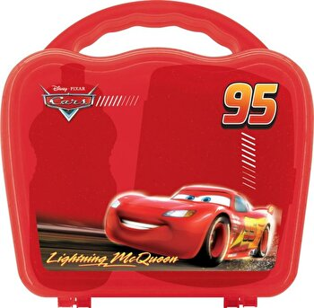 Set 3 piese Disney, Mic Dejun Cars, 89228, Rosu de la Disney