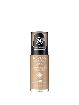 Fond de ten Colorstay pentru ten mixt-gras, 330 Natural Tan, 30 ml de la Revlon