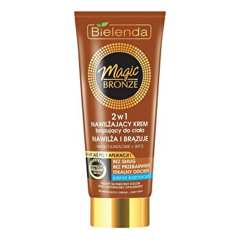 Crema bronzanta hidratanta Magic Bronze 2 in 1 pentru corp, light skin, 200 ml de la Bielenda
