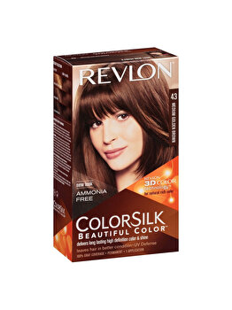 Vopsea de par ColorSilk, 43 Medium Gold Brown de la Revlon