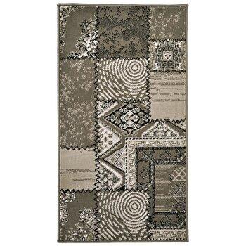 Covor Decorino Patchwork C04-020157, Gri, 80×150 cm de la Decorino