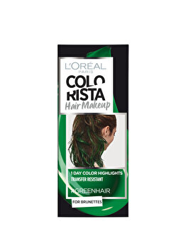 Gel colorant pentru par L'Oreal Paris Colorista Hair Makeup, Green, 30 ml