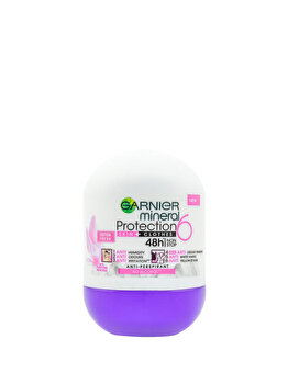 Deodorant antiperspirant roll-on Garnier Mineral Protection 6 Cotton Fresh, pentru femei, 50 ml de la Garnier