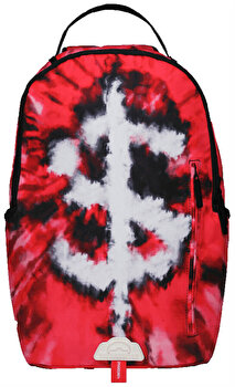 Rucsac Sprayground, Money Sign Tie Dye, Rosu + Sticker Cadou de la Sprayground