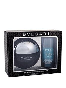Set cadou Bvlgari Aqva (Apa de toaleta 100 ml + Deostick 75 ml), pentru barbati de la Bvlgari