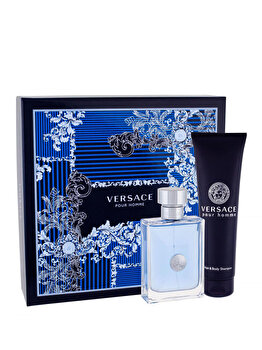 Set cadou Versace Pour Homme (Apa de toaleta 100 ml + Gel de dus 150 ml), pentru barbati de la Versace