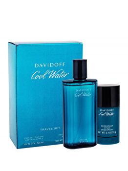 Set cadou Davidoff Cool Water (Apa de toaleta 125 ml + Deodorant 75 ml), pentru barbati de la Davidoff