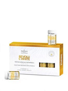 Fiole tratament pentru fata de noapte cu vitamina C, 5 x 5 ml de la Farmona