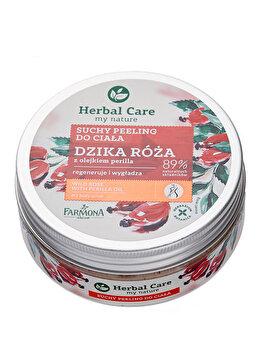 Exfoliant pentru corp uscat cu trandafir salbatic si ulei de Perilla, 220 ml de la Farmona