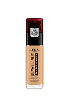 Fond de ten rezistent la transfer L Oreal Paris Infaillible 24H Fresh Wear, 250 Golden Sun, 30 ml de la L Oreal Paris