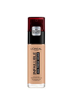 Fond de ten rezistent la transfer L Oreal Paris Infaillible 24H Fresh Wear, 230 Radiant Honey, 30 ml de la L Oreal Paris