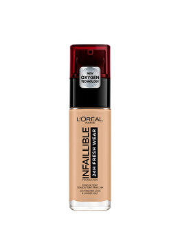 Fond de ten rezistent la transfer L Oreal Paris Infaillible 24H Fresh Wear, 140 Golden Beige, 30 ml de la L Oreal Paris