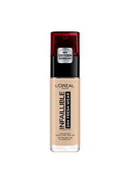 Fond de ten rezistent la transfer L Oreal Paris Infaillible 24H Fresh Wear, 130 True Beige, 30 ml de la L Oreal Paris