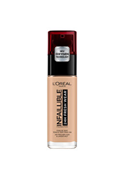Fond de ten rezistent la transfer L Oreal Paris Infaillible 24H Fresh Wear, 145 Rose Beige, 30 ml de la L Oreal Paris