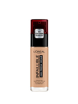Fond de ten rezistent la transfer L Oreal Paris Infaillible 24H Fresh Wear, 220 Sand, 30 ml