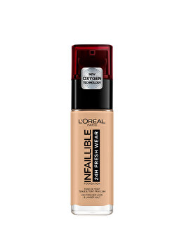 Fond de ten rezistent la transfer L Oreal Paris Infaillible 24H Fresh Wear, 200 Golden Sand, 30 ml de la L Oreal Paris