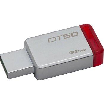 Memorie USB Kingston, DT50/32GB, 15MB/s, 32GB, USB 3.1, Argintiu de la KINGSTON