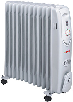 Calorifer electric Zass ZR 12C, 12 elementi, 2500W, 3 trepte, termostat, protectie la supraincalzire de la Zass