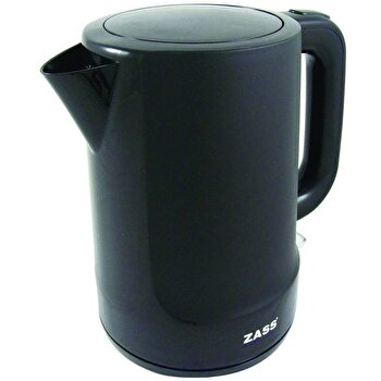 Fierbator Zass ZCK 10 BL Back Line, 2200 W, 1,7 L, baza rotativa, sistem de oprire automat/manual, indicator nivel apa, indicator luminos de la Zass