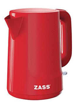 Fierbator Zass ZCK 10 RL Red Line, 2200 W, 1,7 L, baza rotativa, sistem de oprire automat/manual, indicator nivel apa, indicator luminos de la Zass