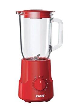 Blender de masa Zass ZSB 10 RL Red Line, 500W, Vas din sticla termorezistenta de 1,5L , 5 trepte de viteza cu functie Pulse, cutit cu 4 lame din inox de la Zass