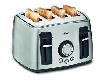 Prajitor de paine Trisa Family Toast, 4 felii, 6 trepte rumenire, Inox, putere 1600W de la Trisa