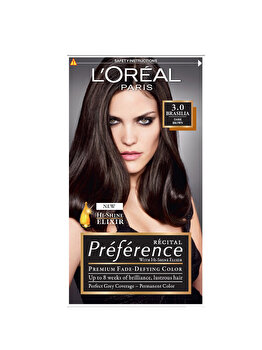 Vopsea de par permanenta cu amoniac L Oreal Paris Preference 3 BRASILIA – SATEN INCHIS, 174 ml de la L Oreal Preference