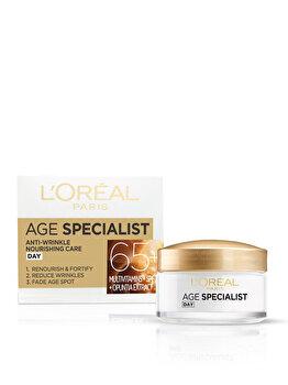Crema antirid pentru fata L'Oreal Paris Age Specialist 65+ de zi, 50 ml