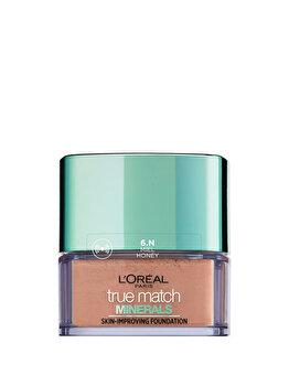 Fond de ten mineral L'Oreal Paris True Match Minerals cu acoperire lejera 6N Honey, 10 g de la L Oreal Paris