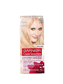 Vopsea de par permanenta cu amoniac Color Sensation cu pigmenti intensi 10.21 Blond Perlat Delicat, 110 ml de la Garnier Color Sensation