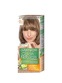 Vopsea de par permanenta cu amoniac Color Naturals 7.1 Blond Cenusiu, 110 ml de la Garnier Color Naturals