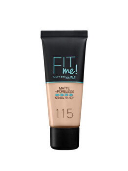 Fond de ten matifiant Maybelline New York Fit Me Matte & Poreless 115 Classic Ivory, 30 ml de la Maybelline
