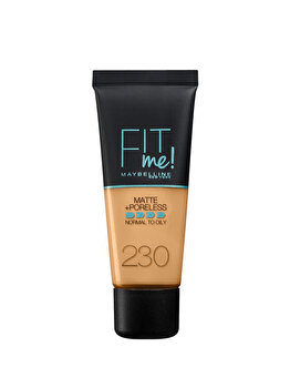 Fond de ten matifiant Maybelline New York Fit Me Matte & Poreless 230 Natural Buff, 30 ml de la Maybelline