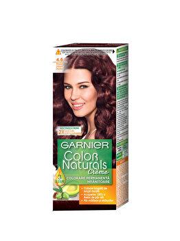 Vopsea de par permanenta cu amoniac Color Naturals 4.6 Rosu Intens Inchis, 110 ml de la Garnier Color Naturals