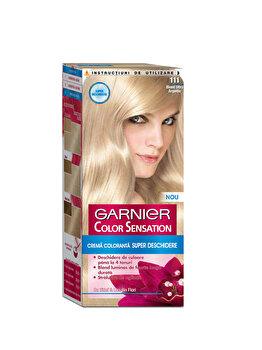 Vopsea de par permanenta cu amoniac Color Sensation cu pigmenti intensi 111 Blond Ultra Argintiu, 110 ml de la Garnier Color Sensation