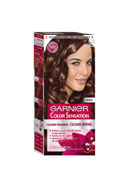 Vopsea de par permanenta cu amoniac Color Sensation cu pigmenti intensi 4.15 Saten Glacial, 110 ml de la Garnier Color Sensation