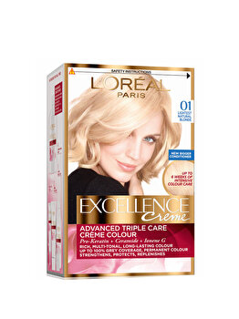 Vopsea de par permanenta cu amoniac L Oreal Paris Excellence 01 Blond Ultra-Deschis Natural , 192 ml de la L Oreal Excellence