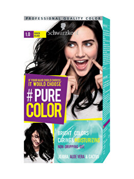 Vopsea de par Pure Color, nuanta RavenBlack 1.0, 142 ml de la Schwarzkopf Pure Color