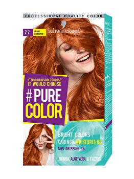 Vopsea de par Pure Color, nuanta RedGinger 7.7, 142 ml