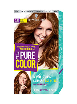 Vopsea de par Pure Color, nuanta ToffeeAddi 7.57, 142 ml de la Schwarzkopf Pure Color
