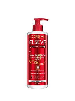 Sampon ingrijire experta L'Oreal Paris Elseve Low Shampoo Color Vive pentru par colorat, 400 ml de la Elseve
